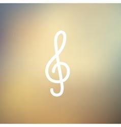 G-clef thin line icon vector