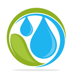 logo icon with clean water management concept vector image