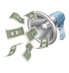 money megaphone vector image