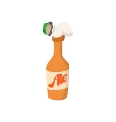 Open bottle of beer cartoon icon vector image