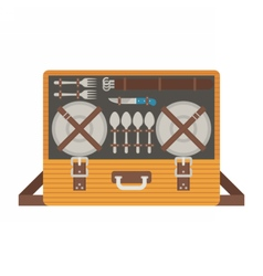 Portable Picnic Bag Hamper vector image