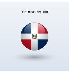 Dominican republic round flag vector