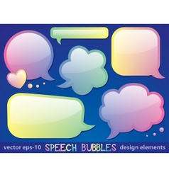 glossy speech bubbles vector image vector image