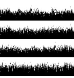 grass isolated on white setmeadow nature vector image