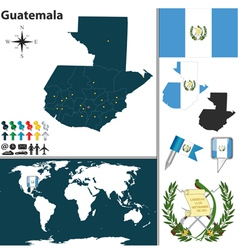 Guatemala map world vector image