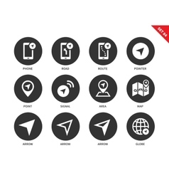 Navigator icons on white background vector image vector image