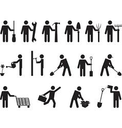 People pictogram activities vector