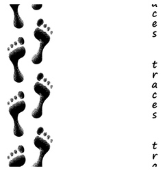 Seamless trail of footprints vector image