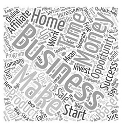 Some Basic Home Business Productivity Tips text vector image
