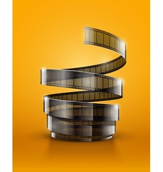Spiral of cinematography film vector image vector image