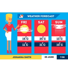 Weather Forecast 1 vector image vector image