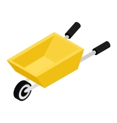 Garden Wagon 3D isometric icon vector image