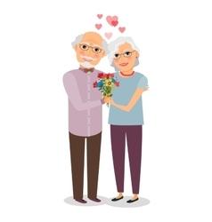 Happy senior couple vector image vector image