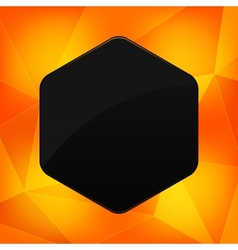 Hexagon banner with abstract backrounds vector image vector image