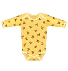 baby bodysuit vector image vector image