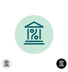 Bank percent icon vector image vector image