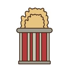 cartoon bucket pop corn cinema vector image