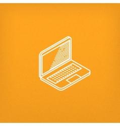 isometric icon of laptop vector image