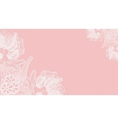 Pink lace background Template greeting card or vector image