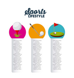 Sports infographic presentation vector