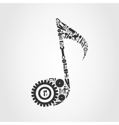 Tool the note vector image