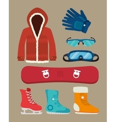 Winter sport and fashion wear vector image vector image