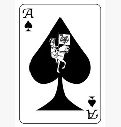 ace spades playing card vector image