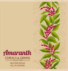 Amaranth plant pattern on color background vector