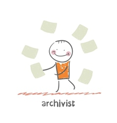 Archivist vector