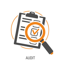 Audit and test flat icon set vector