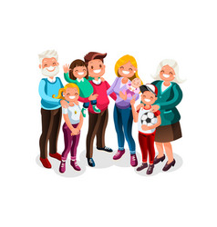 Baby big family portrait vector