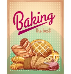 baking best pastry poster vector image