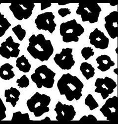 Black and white safari pattern background jaguar vector