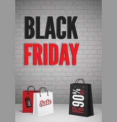 black friday mega sale poster design layout vector image