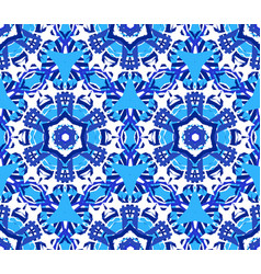 blue star flower kaleidoscope background vector image vector image
