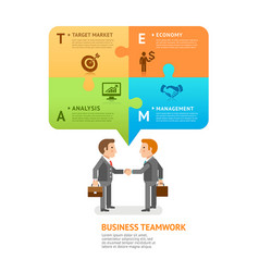 business teamwork with speech bubble vector image