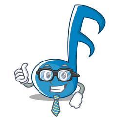 Businessman music note character cartoon vector