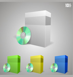 cd drive with a box vector image