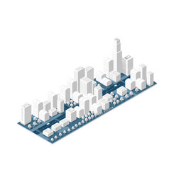 City on white design vector