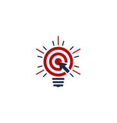 click idea logo icon design vector image