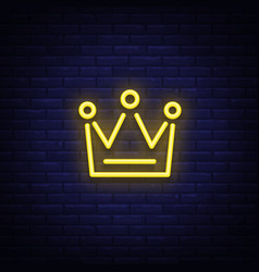 Crown is a neon sign neon icon light symbol web vector