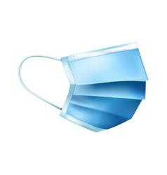 curved medical mask composition vector image