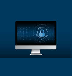 cyber technology security netwok protection vector image