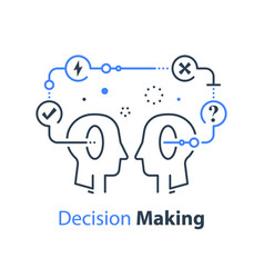 Decision making and behavior mental trap vector