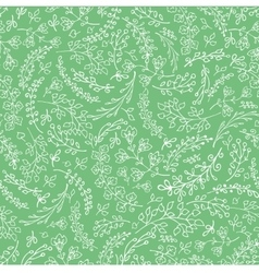 Doodles hand drawn branches seamless pattern vector