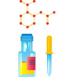 drop bottle laboratory composition vector image
