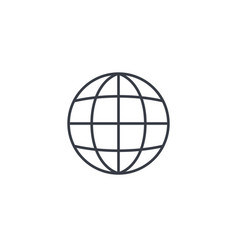 earth globe thin line icon linear symbol vector image