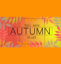 fall autumn sale banner horizontal flat style vector image