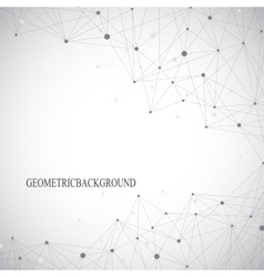 Grey graphic background with connected line and vector