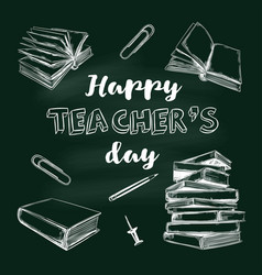 Happy teachers day banner 3 vector